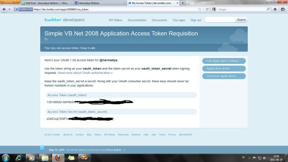 Registrasi - Twitter (Token)